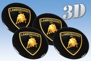 LAMBORGHINI 3d car decals for wheel center caps