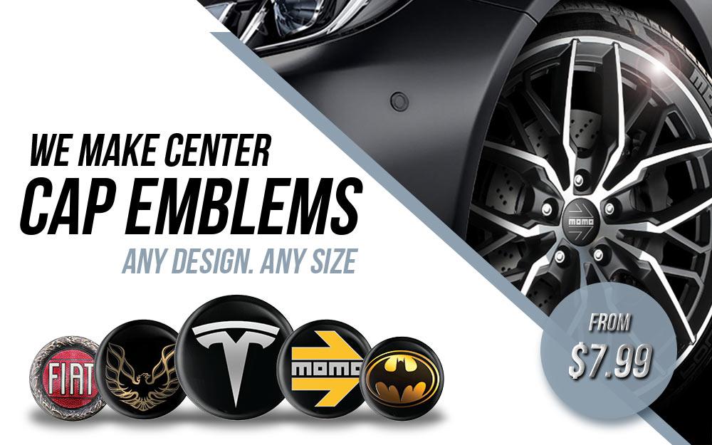 Online shop 3D wheel center caps