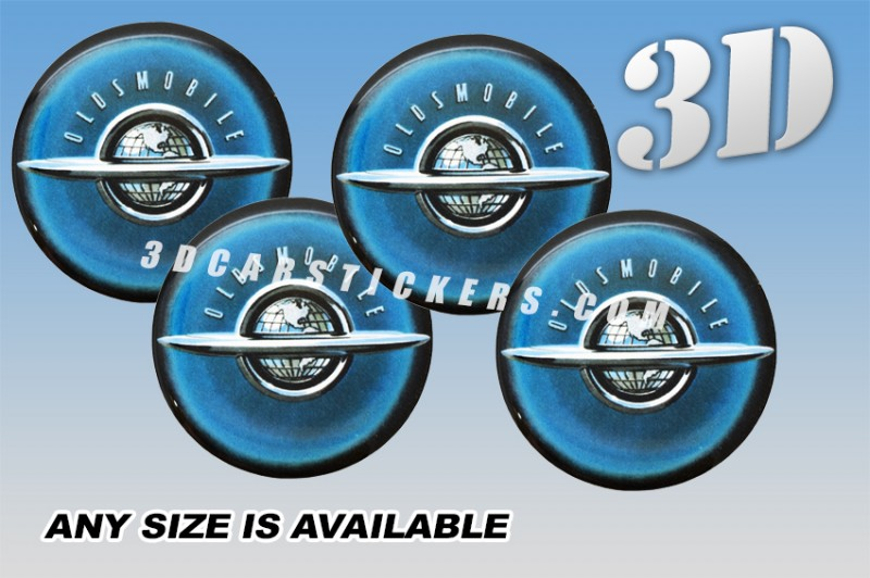 OLDSMOBILE PLANET wheel center cap decals emblems stickers 4 pcs ~ ANY SIZE ~