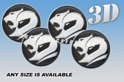 AMERICAN RACING 3d car wheel center cap emblems stickers  :: Silver logo/carbon background::