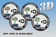 AMG AFFALTERBACH 3d car wheel center cap emblems stickers decals  :: Color logo/black background ::