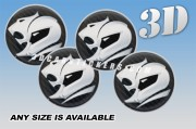 HOLDEN HSV 3d car wheel center cap emblems stickers decals  :: Silver logo/carbon background ::