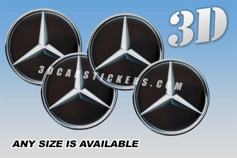 Mercedes Benz 3d Car Wheel Center Cap Emblems Stickers Decals