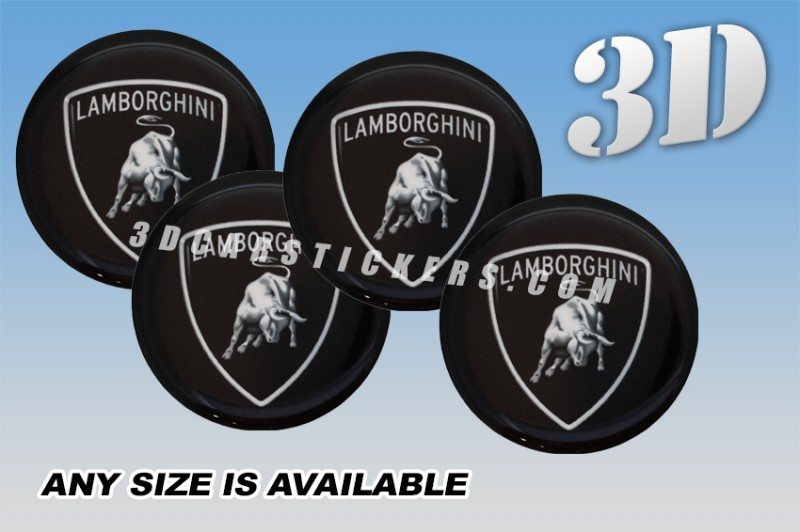 Lamborghini 3d Car Wheel Center Cap Emblems Stickers Decals