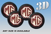 MG 3d car wheel center cap emblems stickers decals  :: Color logo/black background ::