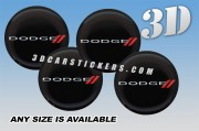 DODGE SPORT 3d car wheel center cap emblems stickers decals  :: Red/Silver logo/black background ::