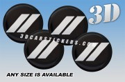 DODGE SPORT 3d car wheel center cap emblems stickers decals  :: Silver logo/black background ::