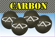 CHERY 3d car stickers for wheel center caps СARBON LOOK