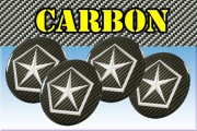 CHRYSLER 3d car stickers for wheel center caps СARBON LOOK