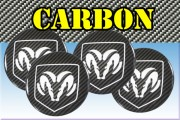 DODGE 3d car stickers for wheel center caps СARBON LOOK