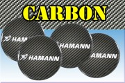 HAMANN 3d car stickers for wheel center caps СARBON LOOK
