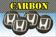 HONDA 3d car stickers for wheel center caps СARBON LOOK