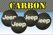 JEEP 3d car stickers for wheel center caps СARBON LOOK