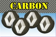 RENAULT 3d car stickers for wheel center caps СARBON LOOK