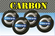 VOLVO 3d car stickers for wheel center caps СARBON LOOK