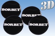 BORBET 3D decals for wheel center caps