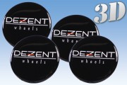 DEZENT 3D decals for wheel center caps