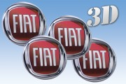 FIAT 3d car decals for wheel center caps