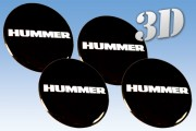 HUMMER 3d car decals for wheel center caps