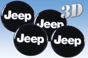 JEEP 3d car decals for wheel center caps