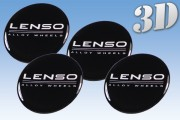 LENSO 3D decals for wheel center caps