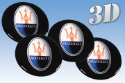 MASERATI 3d car decals for wheel center caps