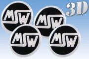 MSW 3D decals for wheel center caps