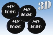 Custom design center cap stickers, set of 6 (Six) stickers