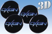 OXIGIN 3D decals for wheel center caps