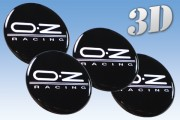 OZ RACING 3d car decals for wheel center caps