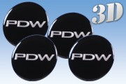 PDW 3D decals for wheel center caps