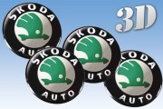 SKODA 3d car decals for wheel center caps