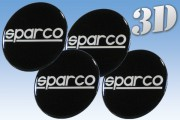 SPARCO 3D decals for wheel center caps